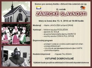 Pozvánka na XI. ročník Zámecké slavnosti v Drhovli